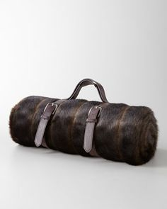 faux fur travel blanket - great gift for that person who has everything