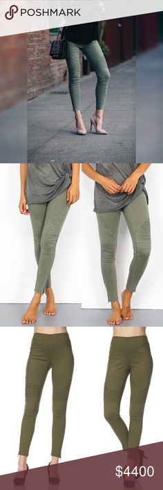 Here❣️Olive Moto Jegging With Ankle Zipper Detail PreOrder Ships Friday❣️Olive Moto Jegging With Ankle Zipper Detail and thick elastic waistband. Each color wash is slightly different. Picture color varies due to studio lighting and Outside lighting. Also Available in Black. 60% Cotton 35% Nylon 5% Spandex. No Trades. Price is Firm Unless Bundled. Glamvault Pants Leggings