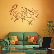 ik1837 Wall Decal Sticker bird tree twig bedroom living room