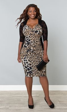 Check out the deal on Stop and Stare Ruched Dress at Kiyonna Clothing