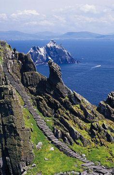 Stone Stairway, Skellig Michael, Skellig Islands -  Ireland