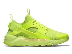 hot sale online 32526 3f301 Nike Air Huarache Run Ultra Breathe Prix Pas Cher Officiel Chaussures Pour  Homme Vert clair 2019