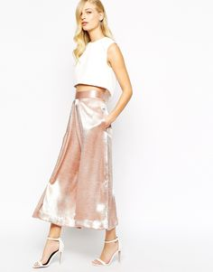 Image 1 of Solace London Culotte Trousers in Metallic
