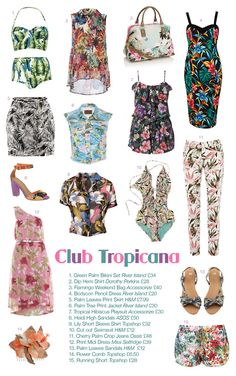 Club Tropicana Trend- High street fashion. http://kissedbyarosevintage.tumblr.com/