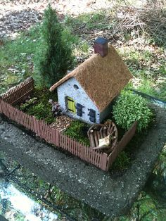 ♧ Charming Fairy Cottages ♧ garden faerie gnome & elf houses & miniature furniture - by Boxcroft Garden