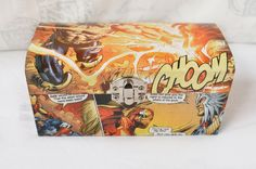 Avengers Inspired Trinket Box - Made with REAL Comics | Geeky Jewellery Box | Trinket Box | Avengers Gift | Custom Toy Box | Geeky Storage by mazzimakes on Etsy