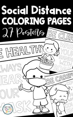 Social Distancing Coloring Pages (27 Total) - Healthy Habits Posters - Promote healthy habits with this set of 27 printable social distancing coloring pages! Prevent the spread of germs by hanging these signs throughout your primary or intermediate classroom. Each poster displays a healthy habit with easy-to-read words! Stay safe and brighten up your classroom! #covid #pandemic #primary #elementary #posters #health #classroom #socialdistancing #middleschool #healthposters #covid19… Teacher Blogs, Math Teacher, Teacher Resources, School Resources, Teacher Hacks, Teacher Stuff, First Year Teaching, First Day Of School Activities, Student Teaching