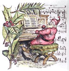 LeBlanche Stamps - Sing Santa