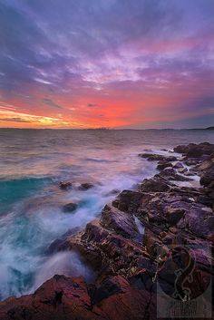 East Coast Sunset. Massachusetts