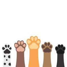 Paws up pets set isolated on white background. vector art illustration illustration Paws up pets set isolated on white background. Instagram Design, Free Vector Graphics, Free Vector Art, Graphics Vintage, Dog Vector, Vintage Logos, Retro Logos, Vintage Typography, Dog Illustration