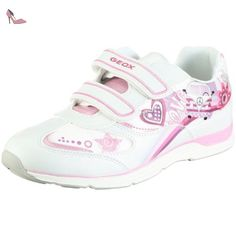 Geox J Android A, Baskets Basses Fille, Rose (Rose/White), 30 EU