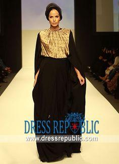 Smera DR8703 Abayas, Kaftans, Arabic Dress, Hijab Fashion, Style Fashion, Abaya Designs, Islamic Fashion, Chiffon Maxi, Sari