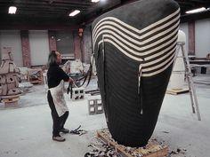 Jun Kaneko's giant, fanciful sculptures have rewritten the rules of ceramic art