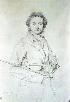 Portrait of Niccolo Paganini, (1819)  Jean Auguste Dominique Ingres
