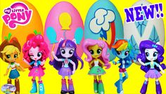 My Little Pony Equestria Girls Minis Dolls Play Doh Surprise Eggs Compil...