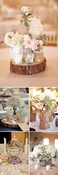 Centros de mesa para bodas rústicas