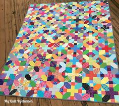 Scrappy X Plus Quilt Tutorial | Great ready to go colorful with this gorgeous scrap quilt project!