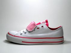 Converse All Star Double Tongue White Pink