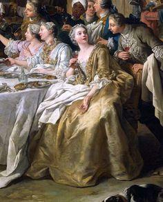 The Hunt Lunch (1737) (detail) by Jean-François de Troy (1679-1752)