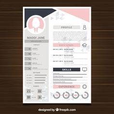 Creative Cv Template, Word Template Design, Creative Resume, Curriculum Template, Free Professional Resume Template, Cv Words, Cv Inspiration, Graphic Design Resume, Creative Poster Design