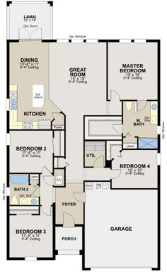 frost iiryland homes at connerton | floor plans | pinterest