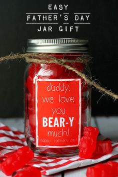 Super CUTE and SIMPLE Father's Day gift that says how BEAR-y much you love him! { lilluna.com }