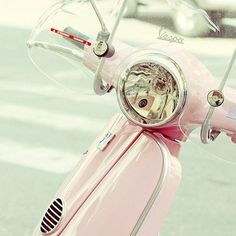 Pink vespa heaven!