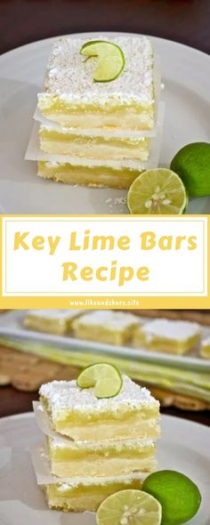 Key Lime Bars, Key Lime Filling, Key Lime Desserts, Fun Desserts, Dessert Recipes, Baking Recipes, Key Lime Flavor, Key Lime Juice, Key Lime No Bake