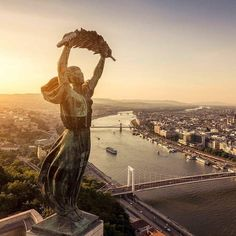 Photo: m - Over the city - Budapest Ingatlanfotózás ? Beautiful Places In The World, Most Beautiful Cities, Places Around The World, Wonderful Places, Around The Worlds, Places To Travel, Places To Visit, Europe Centrale, Capital Of Hungary