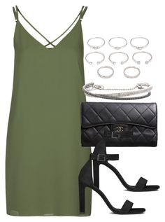 """""""Style #10018"""" by vany-alvarado ❤ liked on Polyvore featuring Topshop, Chanel, Yves Saint Laurent, Forever 21 and Roberto Marroni"""
