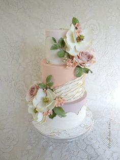 Pearly Pastels  by FireflyIndia - http://cakesdecor.com/cakes/100859