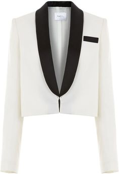 Pin for Later: A Tux Jacket Makes Every Outfit Look Instantly Chic Racil Ivory Dallas Cropped Tuxedo Jacket Racil Ivory Dallas Cropped Tuxedo Jacket (£540)
