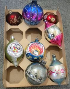 Vintage Christmas Tree Ornaments Glass West by heresthething, $17.50