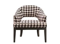 Zoey Accent Chair | Comfortable and curvy, this accent chair delivers instant impact with a chic houndstooth pattern in black and white.