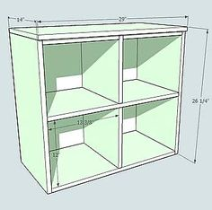 Would love to make something like this for M's room and place the fabric cubes inside.