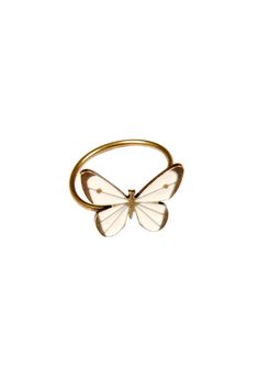Butterfly-Shaped Adjustable Ring