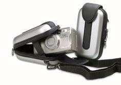 Borsa macchina fotografica semirigida colore argento
