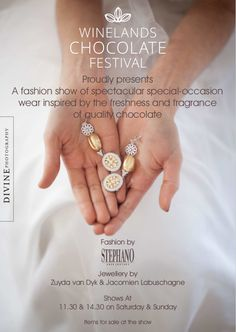 Winelands Chocolate Festival 2016 and a giveaway Chocolate Festival, Festival 2016, Local Events, Giveaway, Special Occasion, Fragrance, Jewelry, Jewlery, Bijoux