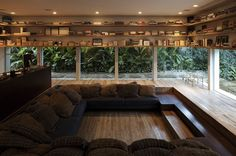 Oh my. The most perfect reading room ever designed.   Yucatan House, São Paulo, Brazil, by Isay Weinfeld