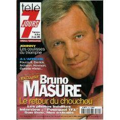 Télé 7 jours - n°1999 - 19/09/1998 - Bruno Masure / le retour sur TF1 [magazine mis en vente par Presse-Mémoire]