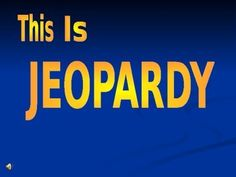 Reading Jeopardy Game Show  Vocabulary Practice