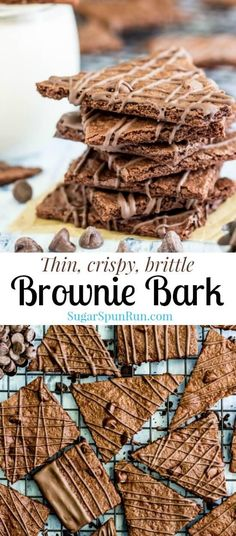Brownie Bark - Sugar Spun Run Brownie Brittle Recipe, Brittle Recipes, Bark Recipe, Brownie Recipes, Candy Recipes, Chocolate Recipes, Baking Recipes, Chocolate Bark, Dessert Simple
