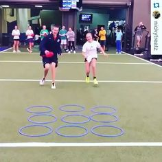 Relay Race Tic Tac Toe. You only have 3 items per team (there is never a cats game), so after the 1st three people go, the next people go and move one of their items to a new place. Lots of creative ways to switch this up (create obstacles, 3 legged races, crab walk over to it, etc)
