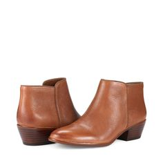 Sam Edelman Petty Deep Saddle Leather Boots p i n m a u d j e s s t y l i n g Flat Booties, Ankle Booties, Bootie Boots, Saddle Leather, Leather Boots, Leather Jacket, Real Leather, Sam Edelman Petty Boots, Edelman Shoes
