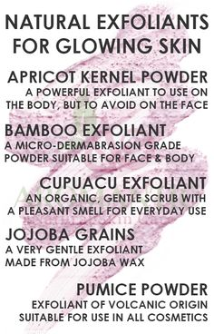 Natural Exfoliants For Glowing Skin | Aromantic | Natural Skin Care