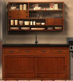 Japanese style kitchen and cabinetry - nice cabinet for the bathroom