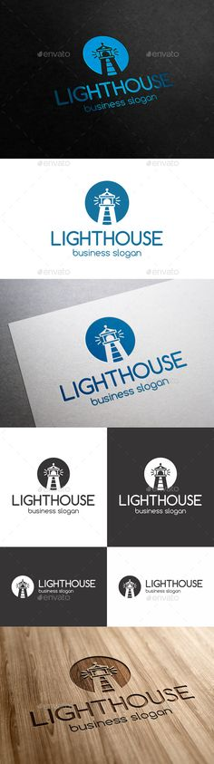 Lighthouse Logo Template – Clean, Simple, and Professional Logo, suitable for Consulting firm, law, insurance, Media Production, IT firm, Business, Real Estate, Construction, etc.