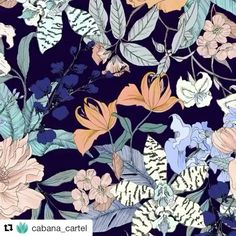 Repost from @cabana_cartel of how our exclusive print for them came together... #wip #textiles #swimwear #printedbikini #ss17 #bikini #illustration #illustration #floralprint #ink #tattooinspiration #orchid #exotic #tropical #savesourseas #printdesigner #studio #comissions #design #cabanacartel
