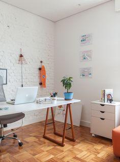 Bedroom Office, Office Desk, Home Office Design, House Design, Sweet Home, Room Decor, Interior Design, Inspiration, Furniture