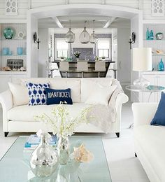 Coastal Ideas from Better Homes and Gardens: http://www.completely-coastal.com/2016/01/coastal-living-room-color-ideas-Better-Homes-and-Gardens.html